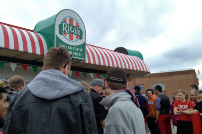 Rita's springs into action