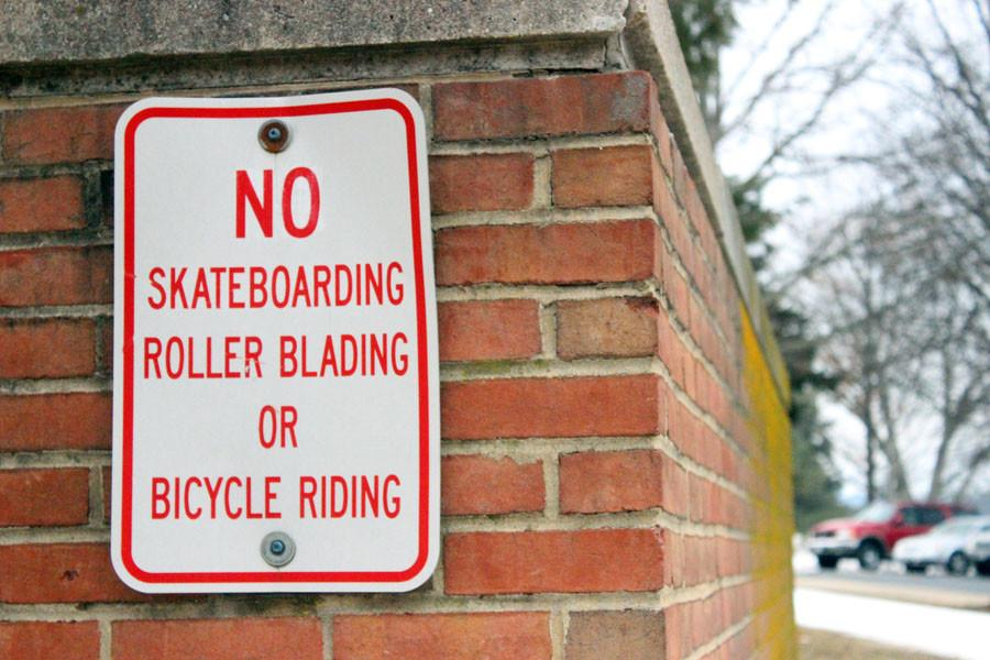Skateboarders unhappy with restrictions