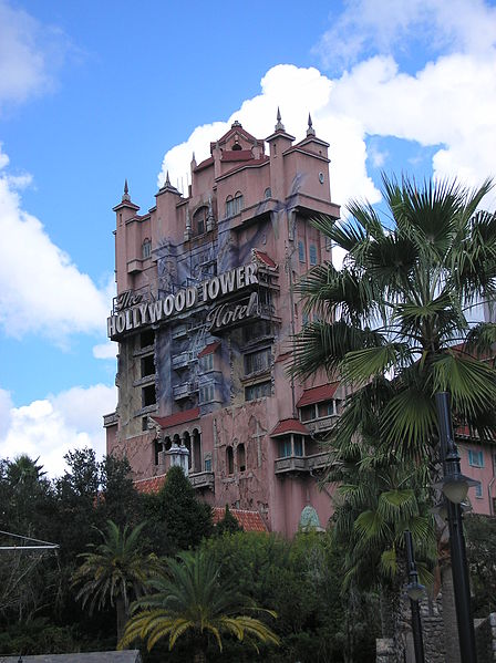 The Tower of Terror at Hollywood Studios in Disney World.