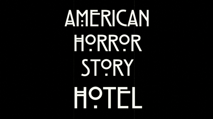 American Horror Story's new season Hotel's title screen.