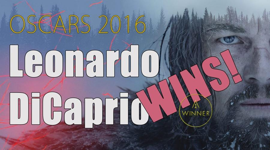 Graphic for DiCaprio winning