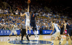 Tip-off between Duke and University of Virginina at Duke University, NC, Jan. 12, 2012.  DoD photo by D. Myles Cullen