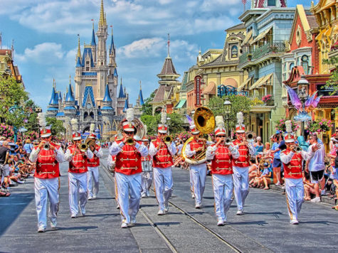 Marching their way into the happiest place on earth