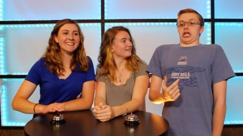 MHS juniors Maggie Williamson, Kim Fleming and Jacob Boone partipate in the