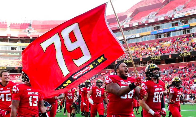 The+University+of+Maryland%2C+College+Park+begins+their+first+game+of+the+season+by+honoring+their+past+teammate.+Jordan+McNair%2C+number+79%2C+passed+away+recently+due+to+a+sports-related+illness.