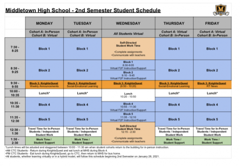 FCPS issues new spring semester schedule