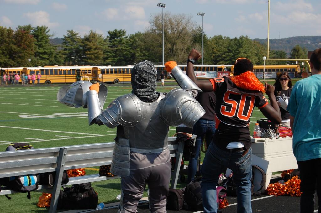 'Mystery Knight' gives Pep Rally some Pep