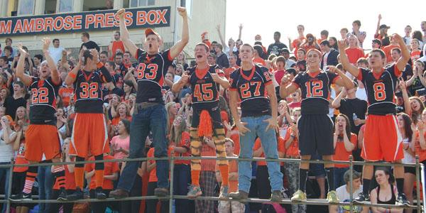 Knights get fired up for the homecoming game