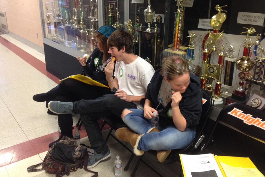 Students prepare to donate for blood drive