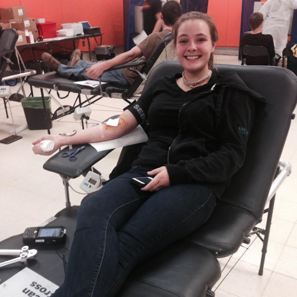 Students donate for the blood drive
