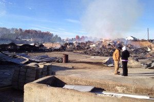 Barn catches fire on Holter Road