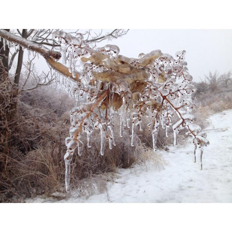 Ice storm runs through the valley