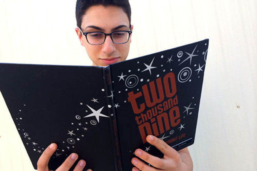 Middletown High School senior, Joseph Haddad takes an embarrassing walk down memory lane as he flips through his middle school yearbook.