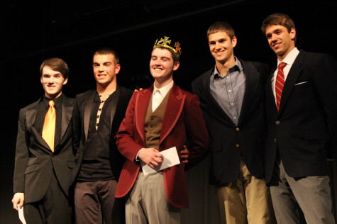 Evich freezes the other competitors in the Mr. Middletown competition