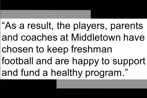 Middletown High School decides to keep freshman football