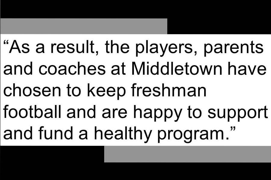 Middletown High School decides to keep freshman football