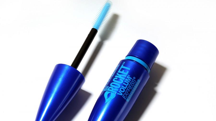Maybelline rocket waterproof mascara waiting to be used.