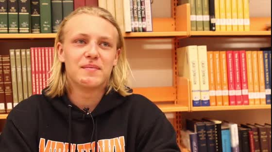 Foreign exchange student Chris Wiingard shares about his experiences in America
