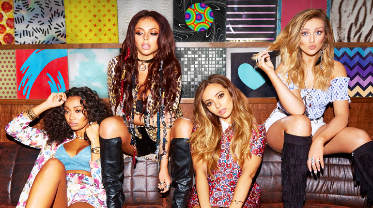 Promotional image for the Asian leg of Little Mix's upcoming tour.