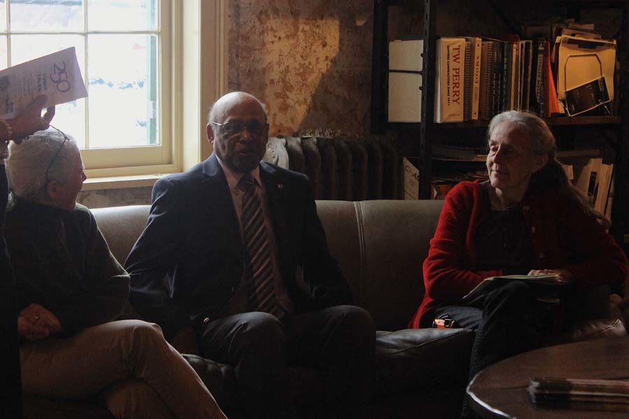Edie Wallace, David Key, and Julie Maynard speak about African American history in Frederick County at Middletown's 250 Town Talks on Sunday, February 12, 2017.