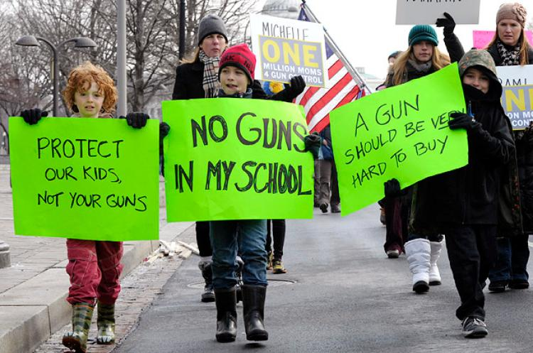 United States students demonstrate against gun violence