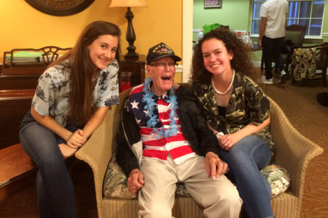 "MHS Key Club says ""Aloha"" to residents at Tranquility Assisted and Memory Care"