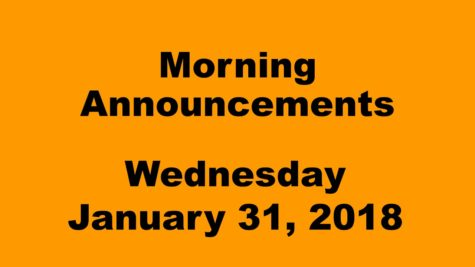 Morning Announcements: 10.12.17