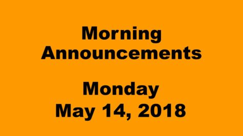 Morning announcements: 2.6.18