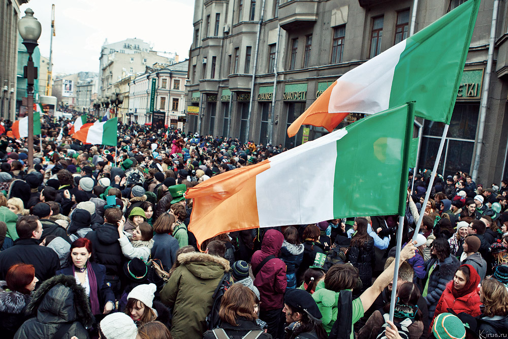A St. Patrick's Day celebration in Moscow.