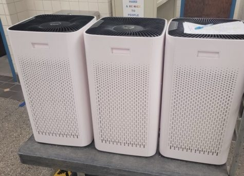 Air purifiers are being delivered to each classroom. Over 2,500 air purifiers with the HEPA filter were provided.